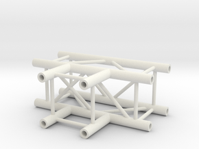 Square Truss T+ Piece 1.10 in White Natural Versatile Plastic