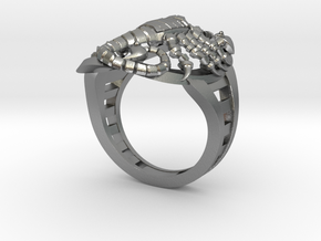 Mech Scorpion Ring Size 10 in Natural Silver
