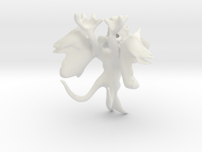 Monster created with Leo 3D Mouse in White Natural Versatile Plastic