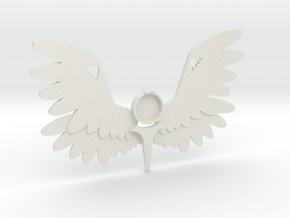 Large Angel Pendant m2 in White Natural Versatile Plastic