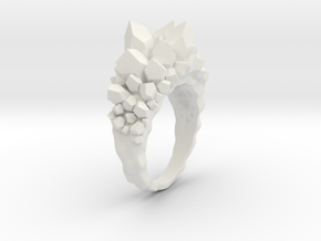 Crystal Ring Size 8 in White Natural Versatile Plastic