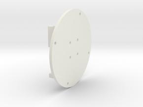 Motor Mount plate v2 in White Natural Versatile Plastic
