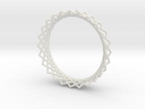 Hyperboloid ring in White Natural Versatile Plastic