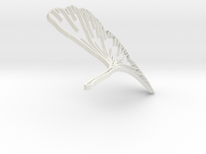 Ginkgo Earring in White Natural Versatile Plastic