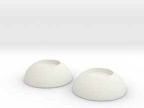 Bjd Eyes 10mm  in White Natural Versatile Plastic