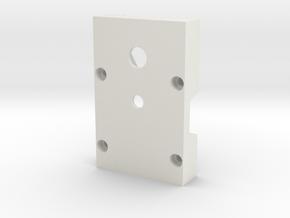 Tripod Adapter for Robotis Dynamixel AX-12+ in White Natural Versatile Plastic