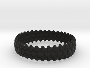 Trefoil Bangle in Black Strong & Flexible
