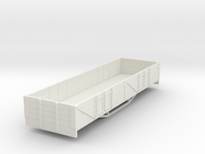 OO9 boige 4 plank open wagon  in White Natural Versatile Plastic