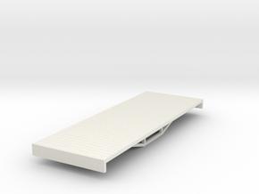 OO9 bogie flat (short) in White Strong & Flexible