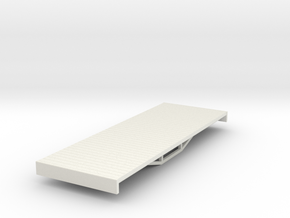 OO9 bogie flat (short) in White Natural Versatile Plastic