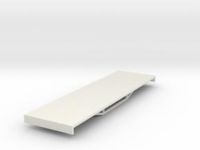 OO9 bogie flat  in White Natural Versatile Plastic