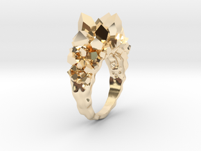 Crystal Ring size 9 in 14K Yellow Gold