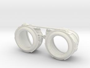 Steampunk Goggles in White Natural Versatile Plastic