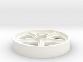 45 RPM Adaptor - Skyway BMX Mag Wheel in White Processed Versatile Plastic