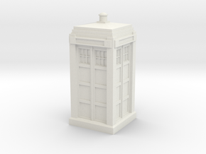 Metropolitan Police Box mk. 2 in White Natural Versatile Plastic
