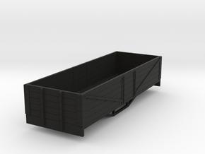 OO9 bogie 5 plank open wagon (short) in Black Strong & Flexible