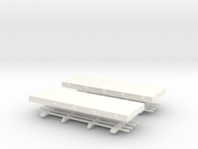 HOn30 20ft flat  x2 in White Strong & Flexible Polished
