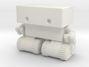 Robot 0025 Tank Tread Bot in White Natural Versatile Plastic