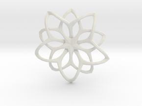 Flower Loops Pendant in White Natural Versatile Plastic