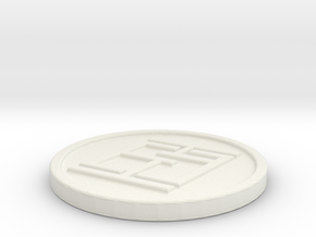 Medallion in White Natural Versatile Plastic