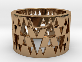 Tri Band Ring Size 8 in Polished Brass