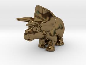 Triceratops Chubbie Krentz in Polished Bronze