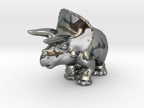 Triceratops Chubbie Krentz in Polished Silver