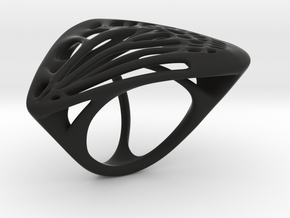 Butterfly Ring [ Size 5 ] in Black Natural Versatile Plastic