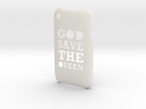 'Queen' iPhone 3GS Cover in White Strong & Flexible