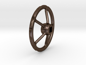 handwheel D20 T5 4kt-2,5 in Polished Bronze Steel
