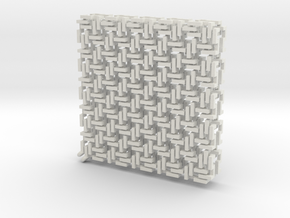 Squaremaille flatN earrings pair in White Natural Versatile Plastic