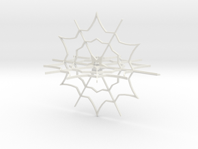 Snow Flake Ornament in White Natural Versatile Plastic