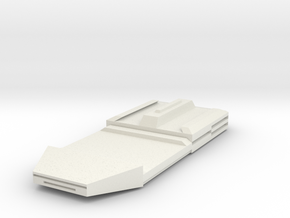 Frigate Ship in White Natural Versatile Plastic