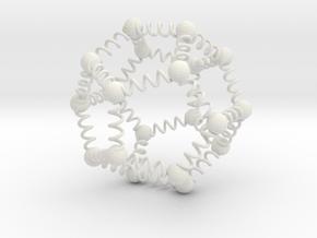 Spring Dodekaeder 20 in White Natural Versatile Plastic