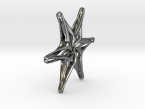 Hexagonal star - 33mm in Polished Silver