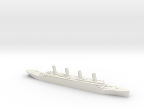 Titanic 1:3000 in White Natural Versatile Plastic