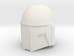 Custom T-Slit Helmet in White Natural Versatile Plastic