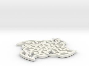 Celtic Sweave in White Natural Versatile Plastic