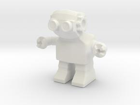 Diesel Bot v1 in White Natural Versatile Plastic