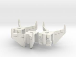 Cockpittrio Vests (Wingstyle 3) in White Natural Versatile Plastic