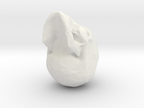 lowpoly skull in White Strong & Flexible