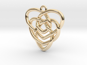 Mother's Knot Pendant in 14K Yellow Gold: Medium