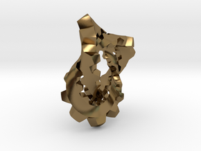Knotted Cog (small) in Polished Bronze