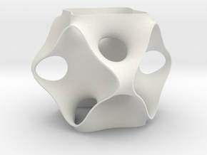 Schoen's OCTO periodic minimal surface in White Natural Versatile Plastic