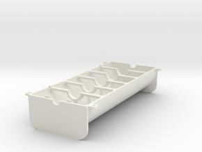 [W12 1:5 Scale Engine] Lower Crankcase in White Natural Versatile Plastic