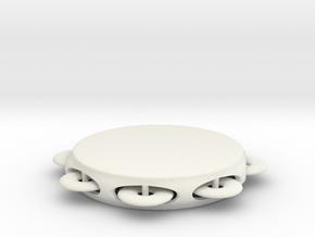 Minimum tambourine in White Natural Versatile Plastic