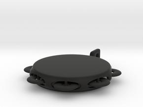 Minimum tambourine key chain in Black Strong & Flexible
