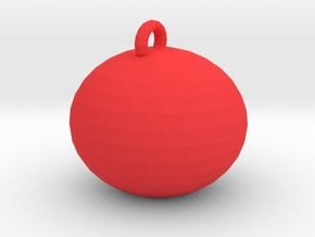 tiny xmas ball in Red Strong & Flexible Polished