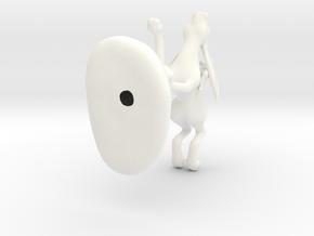Hare Rider in White Processed Versatile Plastic