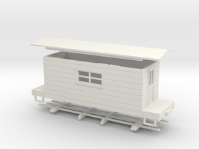 HOn30 logging caboose 3 in White Natural Versatile Plastic